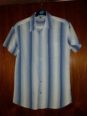 Verkaufe Hemd Clockhouse Gr. S in weiß/hellblau/dunkelblau kurzärmlig