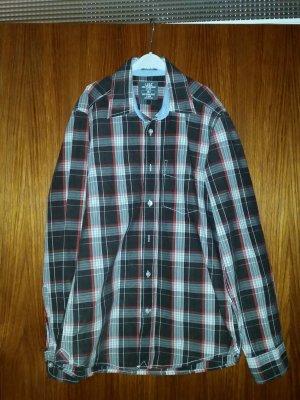 Verkaufe Hemd H&M Gr. S in braun/weiß/rot Langarm wie neu