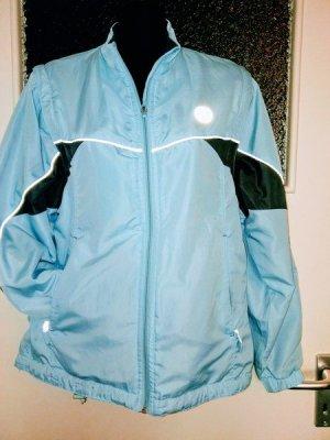 Veste de sport bleu clair-bleu azur tissu mixte