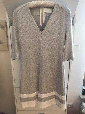 Hugo Boss Stretch jurk lichtgrijs-wit