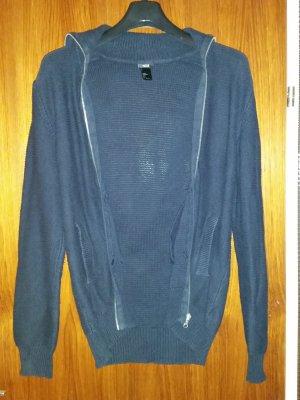 H&M Veste chemise bleu foncé