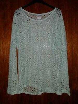 Vero Moda Top en maille crochet turquoise