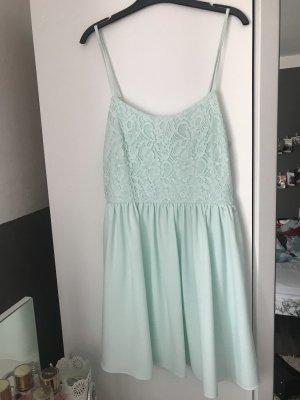 H&M Vestido de encaje menta-azul claro