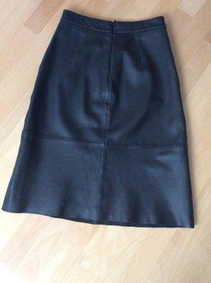Marc O'Polo Falda de cuero negro Cuero