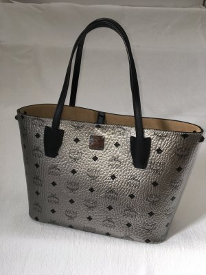 MCM Handbag silver-colored