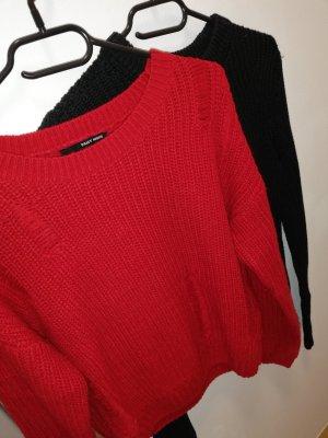 Verkaufe Neuwertige Pullover in Schwarz€Rot Größe S/36