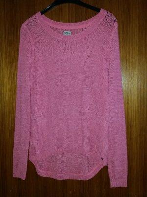 Verkaufe Pullover Gr. M von ONLY in pink vorne kürzer wie hinten