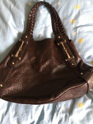 Verkaufe schoko Braune gucci Handtasche in top Zustand!