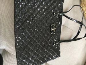 Verkaufe schwarze guess Tasche mit Glitzer