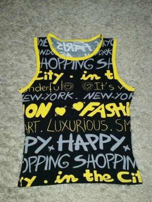Verkaufe Shirt Gr. M in schwarz/gelb/grau von PIMKIE