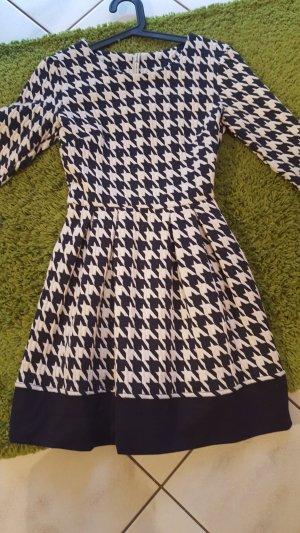 Mexx Wollen jurk zwart-wolwit