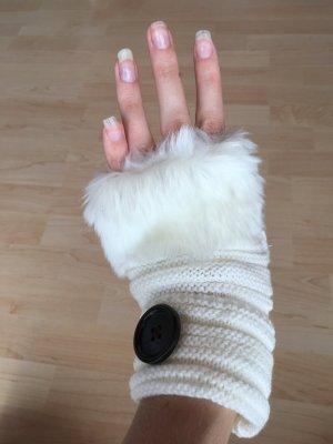 Verkaufe wunderschoene weisse fingerlose Handschuhe