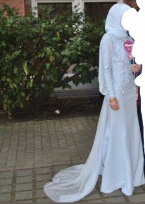 Robe de mariée bleu azur