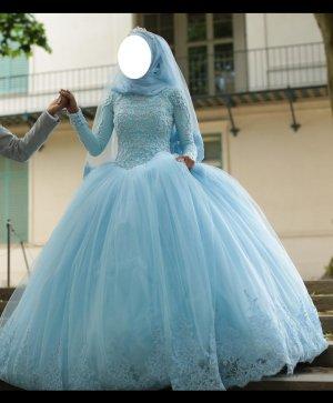 Verlobungskleid Nisan Kina Henna Cinderella Hellblau XS S Jusha