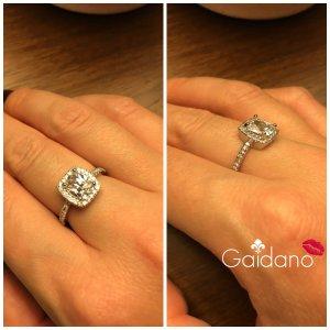 Verlobungsring 925 Silber mit Sapphire Gr. 54 NEU