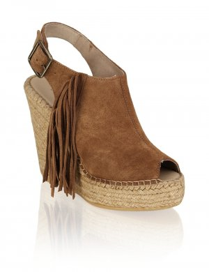 Wedge Sandals multicolored suede