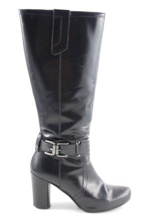 Vero Cuoio Absatz Stiefel schwarz Business-Look