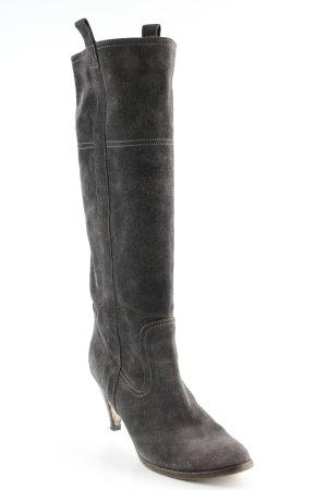 Vero Cuoio Absatz Stiefel grau-dunkelbraun schlichter Stil