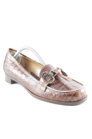 Vero Cuoio faltbare Ballerinas cognac Animalmuster Business-Look