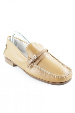 Vero Cuoio Ballerines pliables marron clair style d'affaires