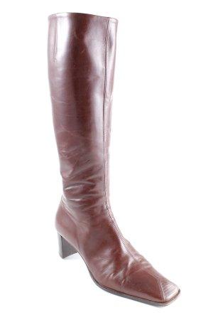 Vero Cuoio Botas de tacón alto rojo amarronado-marrón arena estilo imperio