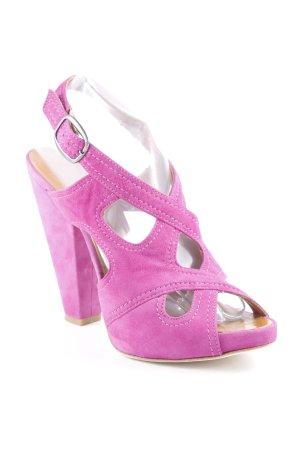 Vero Cuoio High Heels hellbraun-lila Elegant