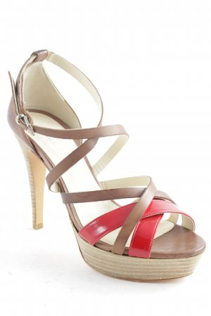 Vero Cuoio High Heels karminrot-braun Business-Look