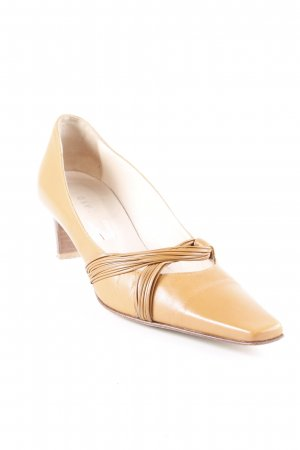 Vero Cuoio High Heels sandbraun Retro-Look