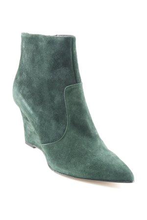 Vero Cuoio Keil-Stiefeletten dunkelgrün schlichter Stil