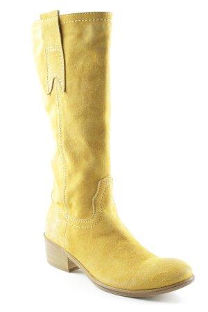Vero Cuoio Stivale a gamba corta giallo-oro stile casual