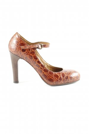 Vero Cuoio Mary Jane pumps bruin-nude volledige print zakelijke stijl