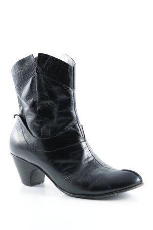 Vero Cuoio Reißverschluss-Stiefeletten schwarz Country-Look