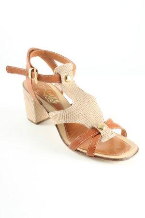Vero Cuoio Riemchen-Sandaletten beige-hellbraun Street-Fashion-Look