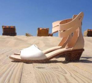Vero Cuoio Wedge Sandals natural white-cream leather