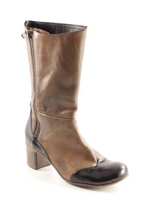Vero Cuoio Jackboots light brown-black brown retro look