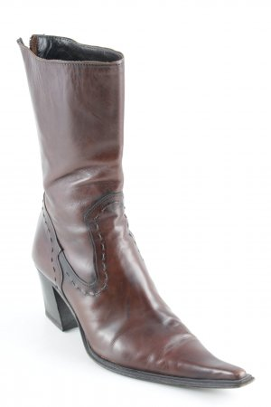 Vero Cuoio Western Boots brown casual look
