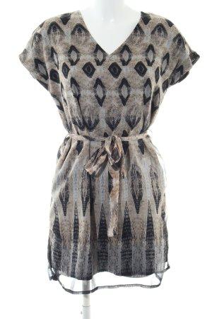 Vero Moda A-Linien Kleid abstraktes Muster Casual-Look