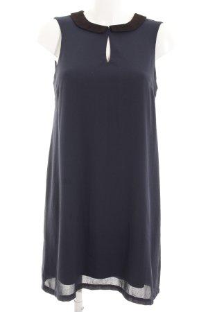 Vero Moda A-Linien Kleid dunkelblau-schwarz schlichter Stil