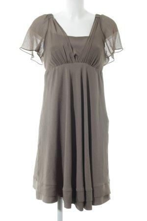 Vero Moda A-Linien Kleid graubraun Materialmix-Look