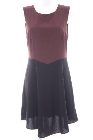 Vero Moda A-Linien Kleid schwarz-braunrot Elegant