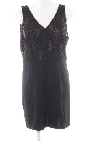 Vero Moda Abendkleid schwarz florales Muster Elegant