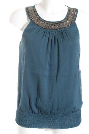 Vero Moda Blusa sin mangas petróleo elegante