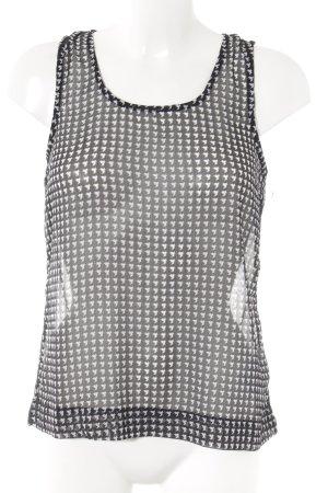 Vero Moda ärmellose Bluse schwarz-weiß Hahnentrittmuster Business-Look
