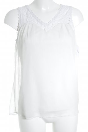 Vero Moda ärmellose Bluse weiß Elegant