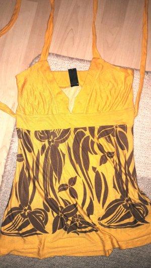 Vero Moda Halter Top ocher-gold orange