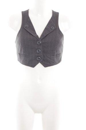 Vero Moda Gilet de costume noir motif rayé style d'affaires