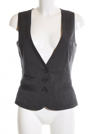 Vero Moda Waistcoat light grey striped pattern business style