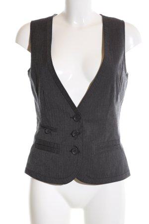 Vero Moda Gilet de costume gris clair motif rayé style d'affaires
