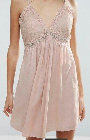 Vero Moda Babydoll Kleid rosé Spitze M Lolita