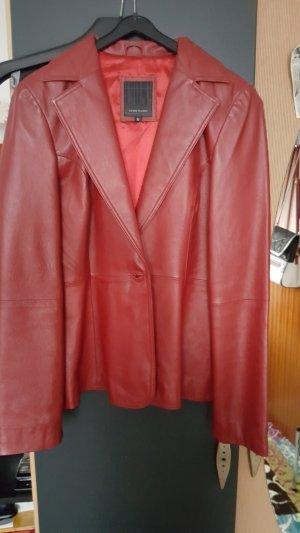 Vero Moda Leather Blazer dark red